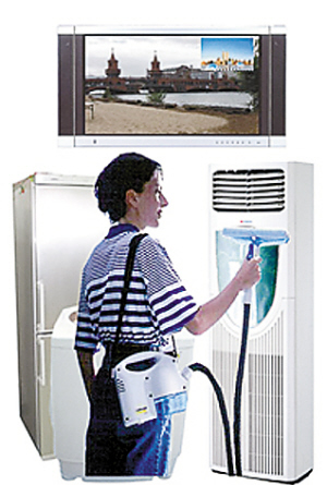 空调   清洗部位:室内机过滤网   空调机过滤网积蓄下来的