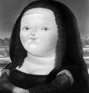 黑白的蒙娜丽莎   意大利一名摄影师是一位乐高
