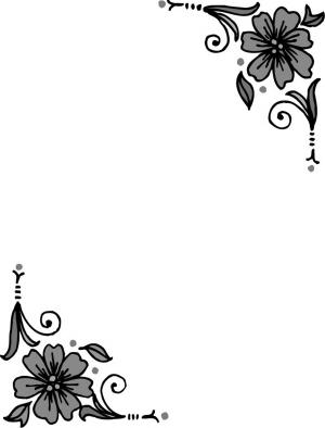 黑白可爱边框简