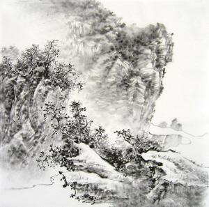 简单素描山水风景画_第2页_风景520