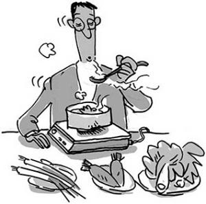 传统手绘图豆腐